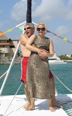 Edward and Debra on Catamaya Cruises, Riviera Maya, Mexico